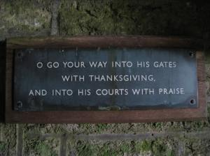 Brentor Church Sign